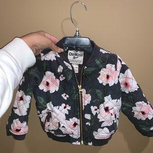 Floral Print Zip Up Jacket!